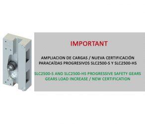 Ampliación de cargas / Nueva certificación