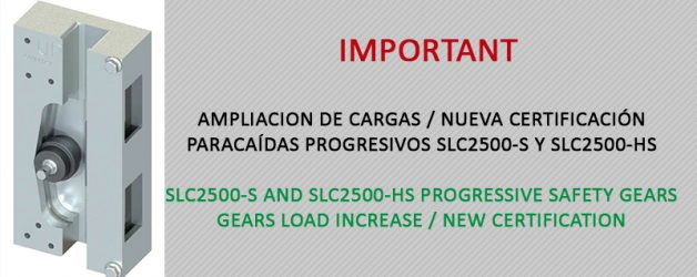 Load increase / New certification